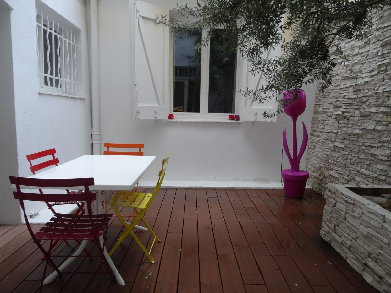 terrasse privative aix en provence appartement T2 meublé 13090