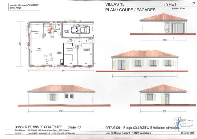 Maisons maison t4 pp t4 f4 ventabren departement bouches for Garage ford bouches du rhone
